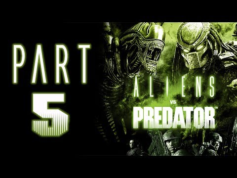 "Aliens Vs. Predator (2010) - Let's Play - Part 5 - ""Marine: Research Lab"""