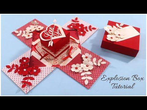 Explosion Box Tutorial | DIY Love Box Card | DIY Gifts | Handmade Gifts Ideas