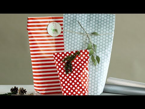 How to Wrap an Oddly-Shaped Gift- Martha Stewart