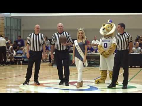 MISS IOWA KELLY KOCH PRESENTS THE GAME BALL AT THE COURTKINGS GAME!!