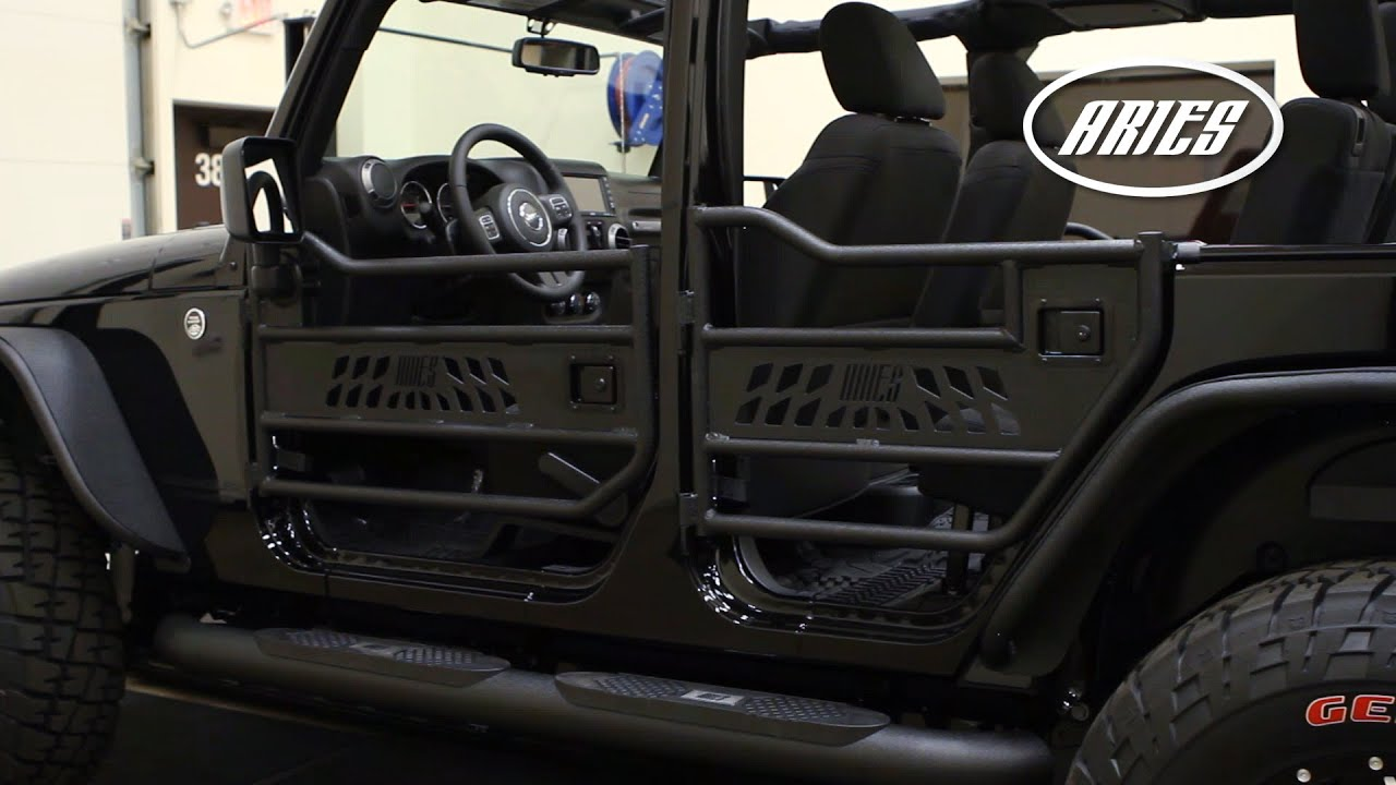 aries jeep wrangler tube doors ar15009 25009 [ 1280 x 720 Pixel ]