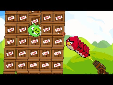 Angry Birds Collection Cannon 1 - BLAST THE PIGGIES WITH 1000 TNT!