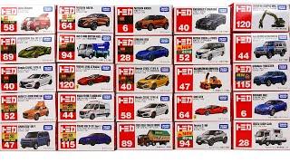 トミカ 2021年上半期新作&廃盤コレクション グリコワゴン ランボルギーニ シビック CX-5 タフト アリア エルフ フェラーリ NV400救急車 WRX キックス BRZ カマロ セレナ 除雪車