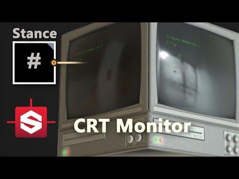 CRT Monitor - Substance Designer Material Breakdown