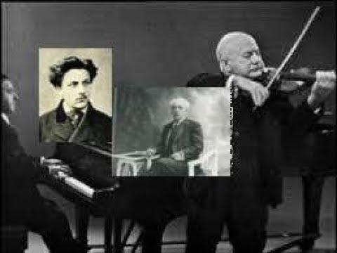 Faure:Sonata#1 in A Major for Violin&Piano(1876)Opus13-Mischa Elman & Joseph Seiger