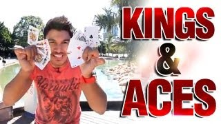 Awesome Card Tricks: Free Card Magic Revealed : Kings and Aces
