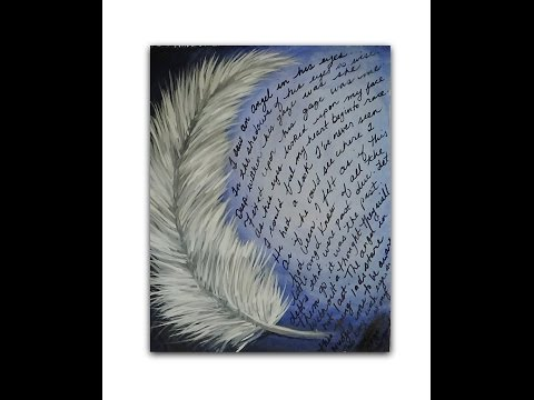 Acrylic Painting - Art and Poetry - Angel