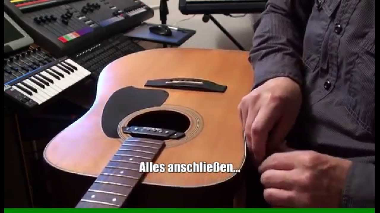 How to install piezo pickup - Tonabnehmer Preamp Einbau in ...