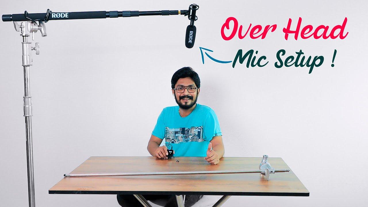 Overhead Mic Setup | C Stand | Boom Pole Simple Setup  | In Telugu By Sai Krishna