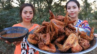 Yummy cooking chicken wing crispy recipe with chili sauce recipe  Cooking skill