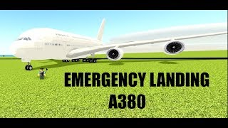 EMERGENCY LANDING A380 | ROBLOX