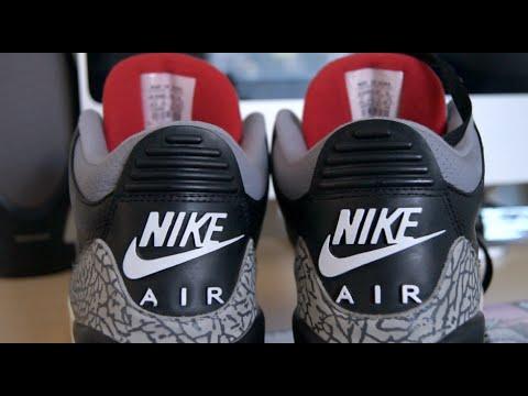 wholesale dealer 8caa8 8ec2b 2001 Air Jordan Black Cement 3 Heel Tab Touch-Up