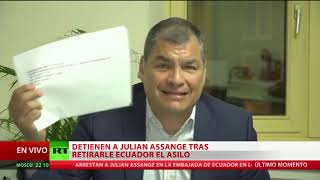 "Rafael Correa: ""Lenín Moreno vendió a Assange a EE.UU."""