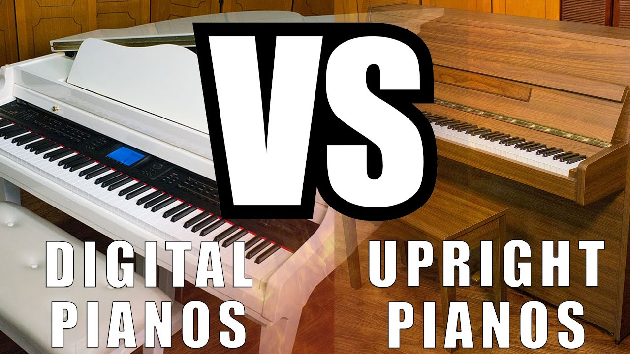 digital pianos vs upright pianos youtube. Black Bedroom Furniture Sets. Home Design Ideas