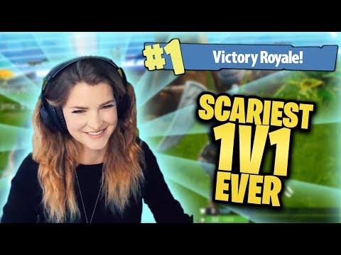 SCARIEST 1V1 EVER! (Fortnite: Battle Royale) | KittyPlays