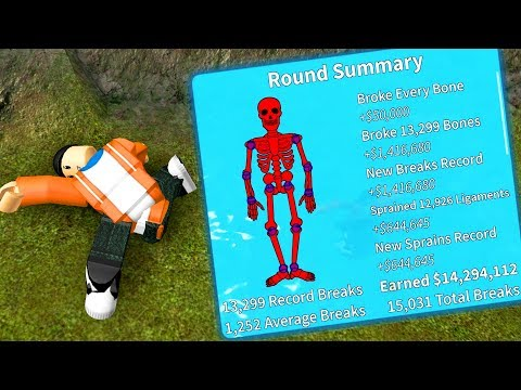 I BROKE ALL THE BONES IN MY BODY (And it hurts...) | Roblox