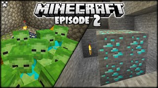 OUR FIRST *DIAMONDS!* | Minecraft Survival Ep.2
