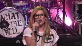Gambar cover Avril Lavigne - What The Hell @ The Tonight Show Jay Leno 14/03/2011