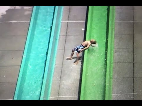 Boy flies from Dublin's Emerald Plunge water slide