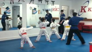 Ethan karate class