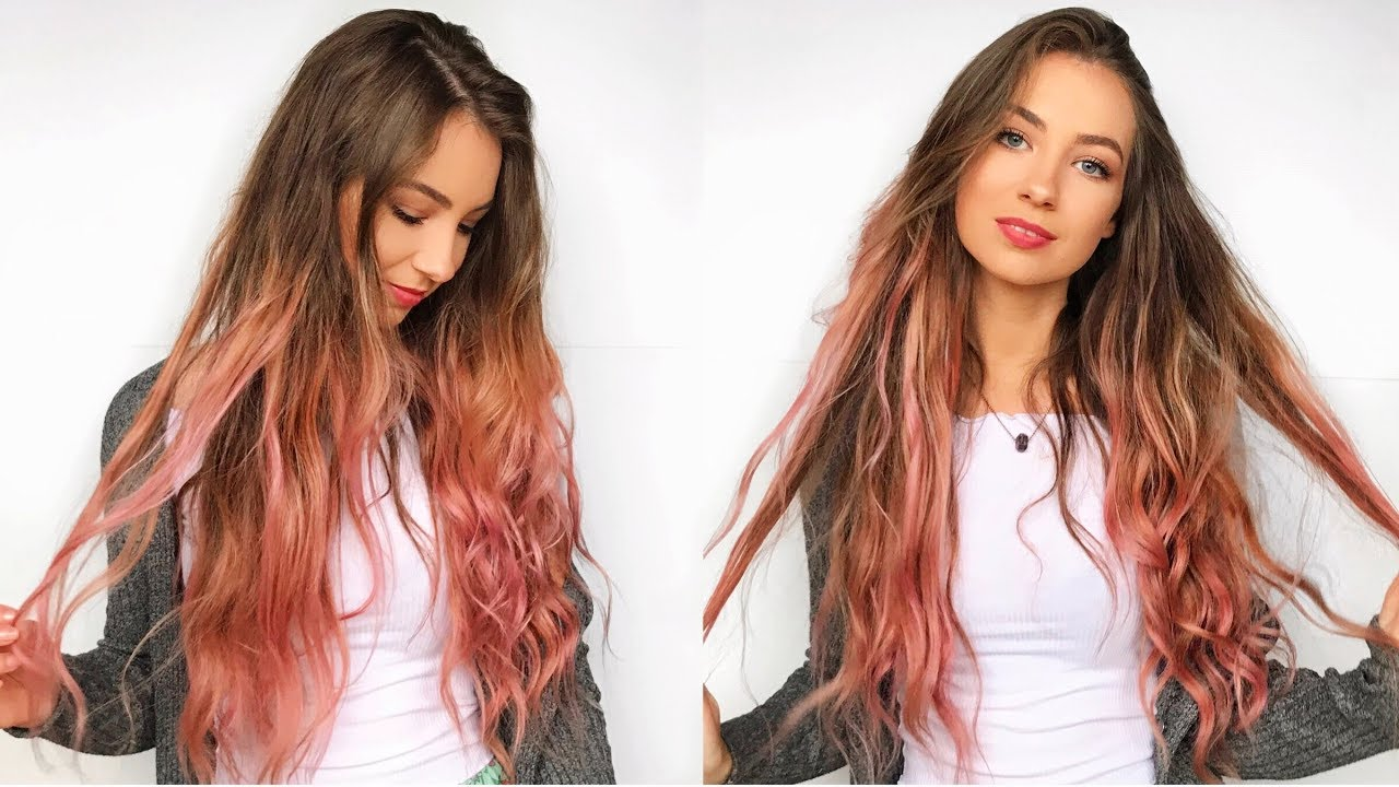 Diy pink ombre hair at home with loreal colorista youtube peachhair pinkhair dirtypinkhair solutioingenieria Images