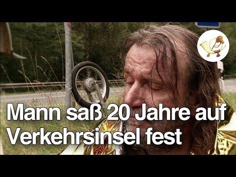 Mofabruch erlitten: Mann saß 20 Jahre auf einsamer Verkehrsinsel fest [Postillon24]