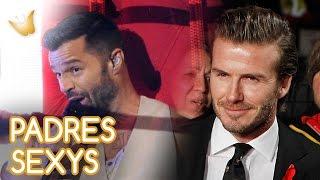 Ricky Martin y David Beckham y otros padres famosos sexys