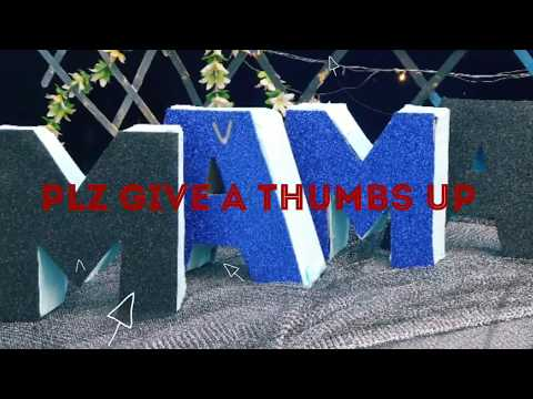 DIY/ 3D ALPHABET M/ BLUE THEME/ MOTHERS DAY / FULL SETTING/ PARTY DECOR