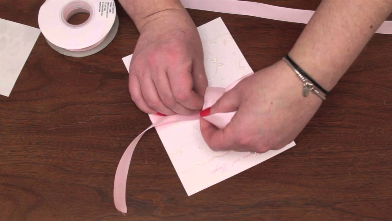 How to Assemble Wedding Invitations With Ribbon - YouTube