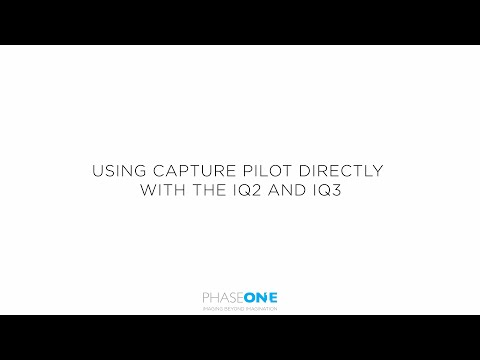 Support | Capture Pilot direct from IQ2 and IQ3 | Phase One