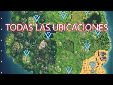 UBICACIÓN EXACTA DE LOS 10 PASTELES DE FORTNITE - YouTube