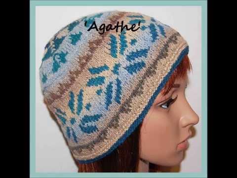 Agathe Scandi Scandinavian Snowflake Fairisle Aran Yarn Beanie Hat Knitting Pattern by Adel Kay