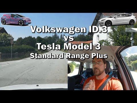 Volkswagen Id.3 vs Tesla Model 3 SRP RWD