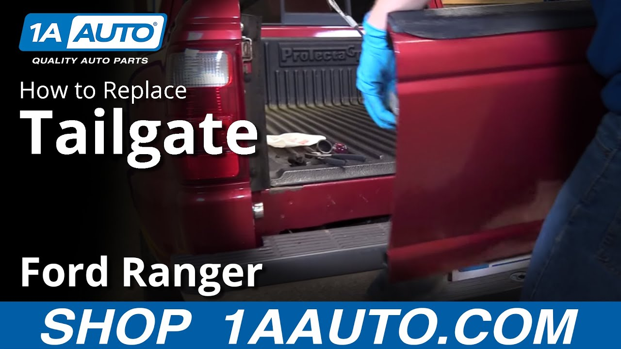 How to remove and reinstall tailgate 2001 ford ranger 1a auto parts