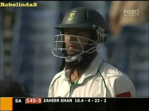 Hashim Amla 'DEBUT TEST INNINGS' 24 vs India 2004