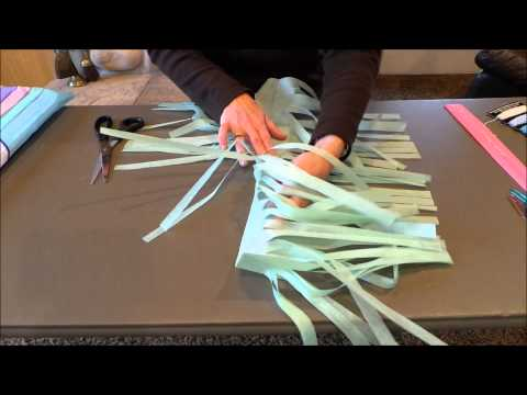 DIY Tissue Paper Tassel Banner Tutorial