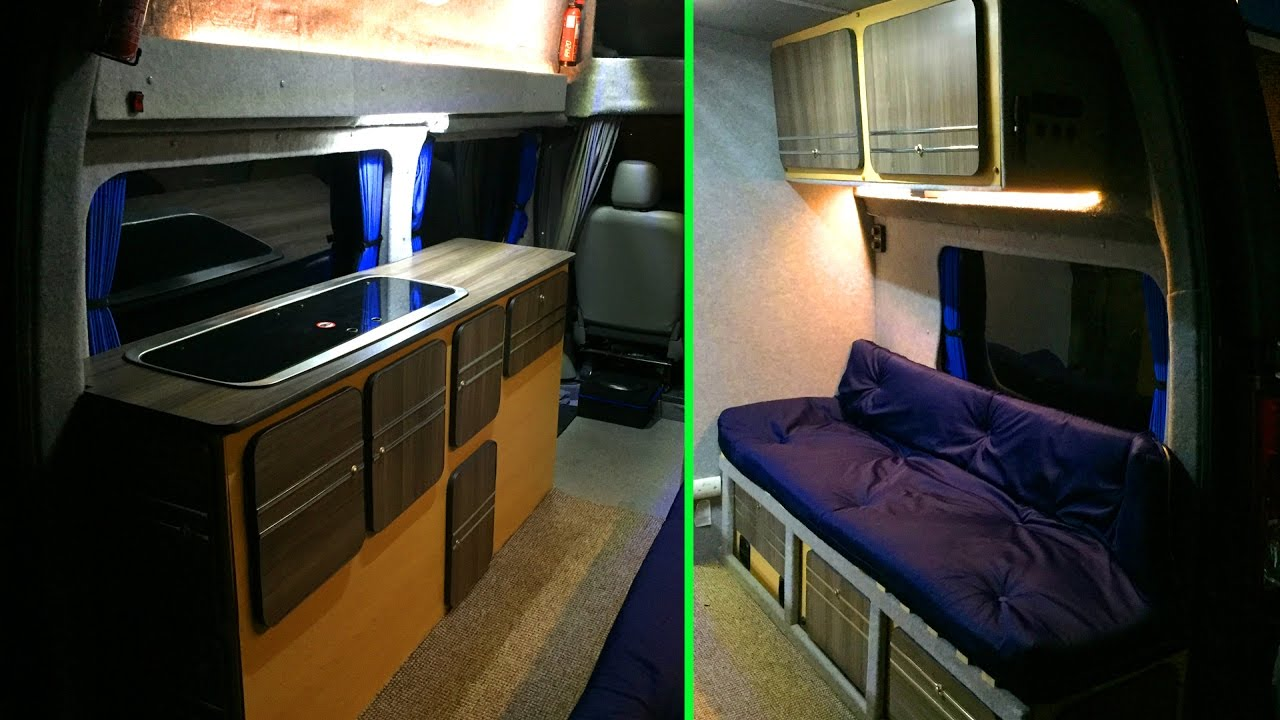 SELF BUILD MOTORHOME   INTERIOR REBUILD   Low Budget