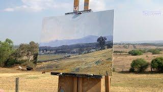 Australian Landscape Painting, Golden Summer Haze