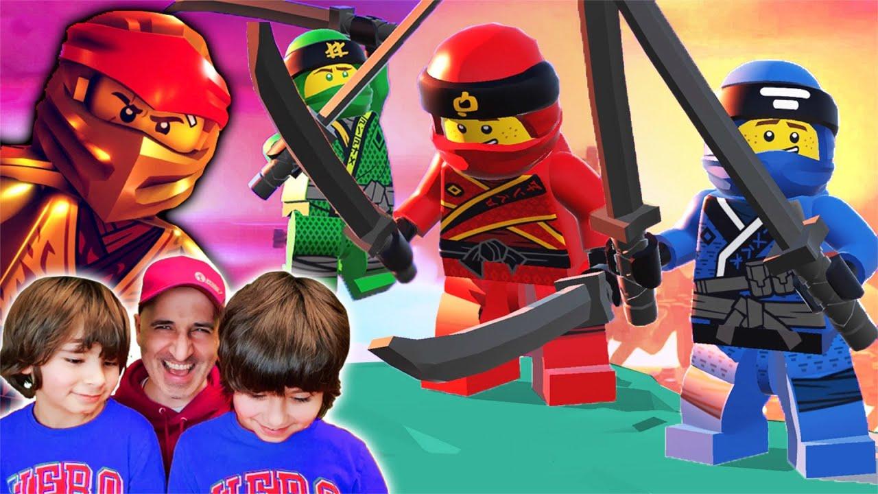 LEGO NINJAGO y el MAESTRO WU LIAN y Dani y Evan en Lego Brawl