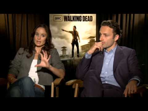 Walking Dead stars Andrew Lincoln and Sarah Wayne Callies on season 3