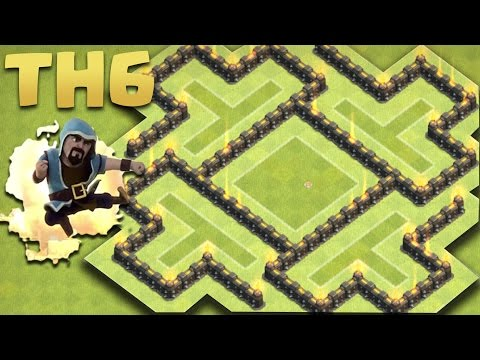 Clash of Clans - Town Hall 6 (Th6) New 2016 Farming Base