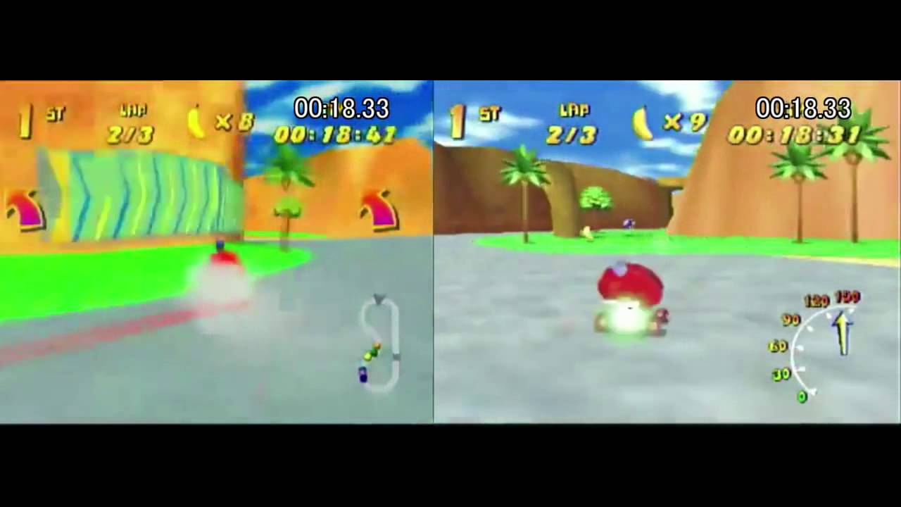 Diddy Kong Racing - Comparison