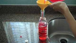 How To Fill A Wine Bottle Hummingbird Feeder So It Doesn't Leak