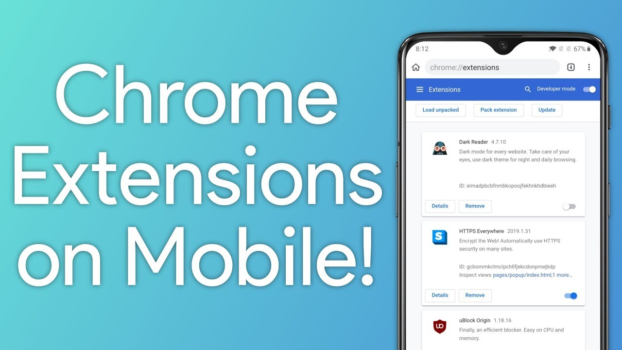Google Chrome Extensions on Android with Kiwi Browser!