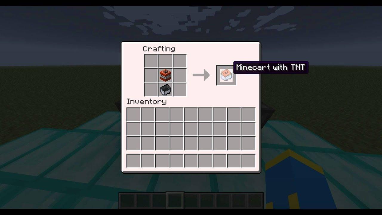 Minecraft Jak zrobić Wagonik z TNT / Minecraft How to make ...