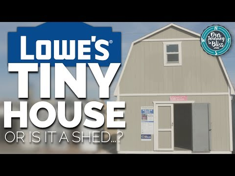 LOWE'S TINY HOUSE!!! (Or is it a shed   ?) - YouTube