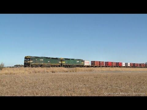 7902V Mildura To Melbourne Container Freight Train - PoathTV Australian Railways