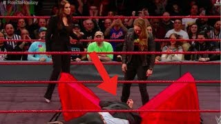 WWE RAW 02 25 18 Ronda Rousey puts Triple H through a table at her contract signing