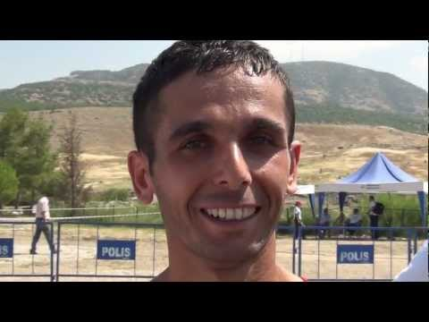 Ahmet Arslan (TUR) after winning the senior Men's race, Denizli