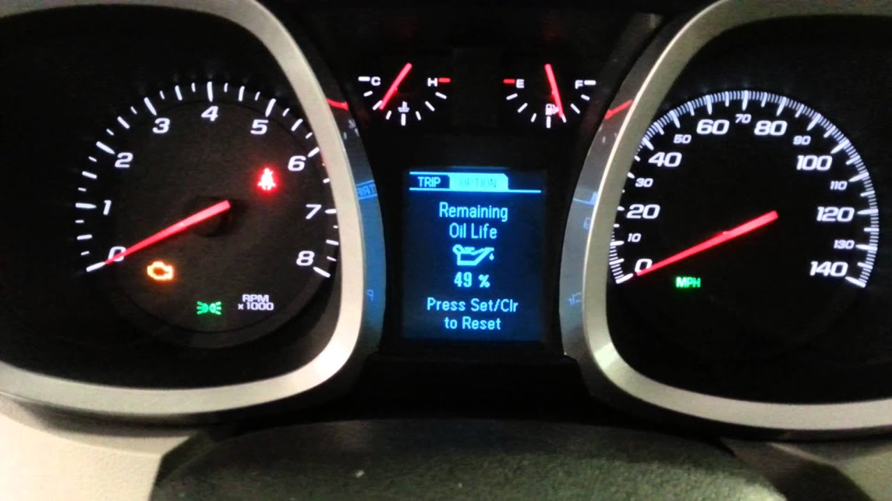 2018 Chevy Equinox >> Reset oil life on 2015 chevy equinox - YouTube